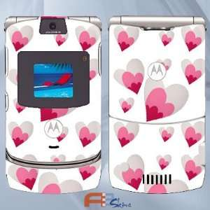 Motorola V3 Cute Pink Hearts 22279
