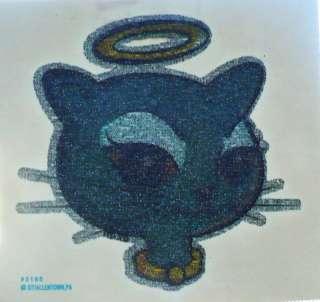 ANGEL KITTY CAT GLITTER HAT T SHIRT IRON ON TRANSFER