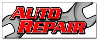 36 AUTO REPAIR DECAL sticker car shop mechanic signs