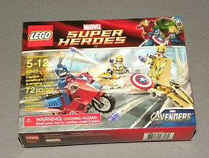 Marvel Avengers Super Heroes 6865 Captain Americas Avenging Cycle NEW