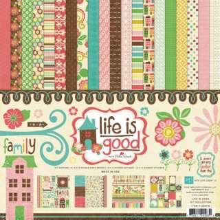 ECHO PARK PAPER CO LIFE IS GOOD 12X12 SCRAPBOOK KIT