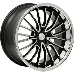 Concept One 744 RS 20 Matte Black Wheel with Machined Lip Finish (20x8