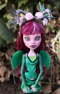 OOAK Custom Repaint Monster High dragon kit. Art doll fairy wings A