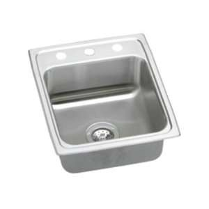 Top Mount Single Bowl 2 Hole Stainless Steel Sink LRQ1522MR2 Home
