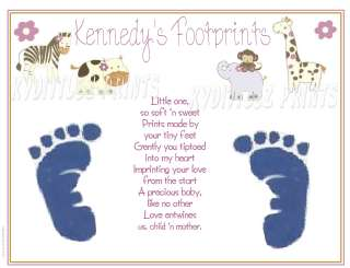 Cocalo Jacana ~ BABY 1st Footprints Poem Print Keepsake