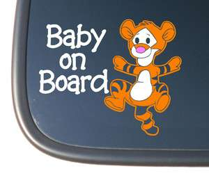 Winnie the Poohs Baby Tigger BABY ON BOARD Car Decal