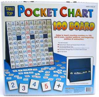 100 Number Table Top Pocket Chart pre K+ special need