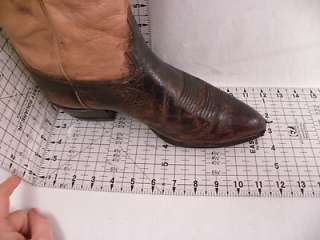 Tony Lama Brown Leather 10 EE Mens Western Boots