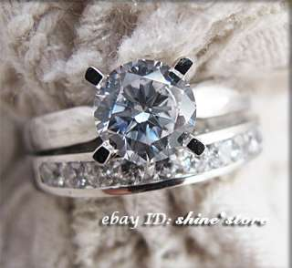 GENUINE 9CT SOLID WHITE GOLD ENGAGEMENT WEDDING LADY SIMULATED DIAMOND