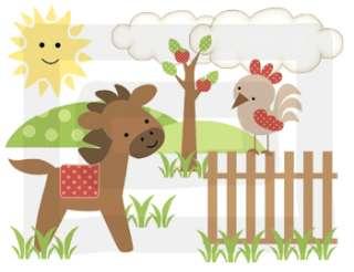 BARNYARD FARM ANIMALS BOY WALL BORDER STICKERS DECALS