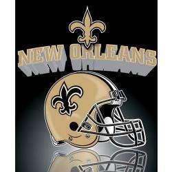 Orleans Saints NFL Football Ultra Soft Fleece Blanket Throw 50x60