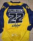 chad reed signed 2009 thor custom 22 jersey xl new