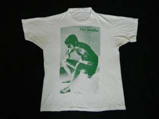 VTG THE SMITHS 80s T SHIRT MORRISSEY TOUR CONCERT XL