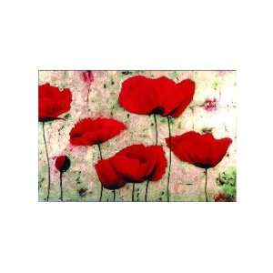 Poppies IV   Dana del Castillo 14x11:  Home & Kitchen