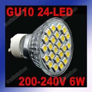 6W Focus 24 LED 3W Warm White Light Bulb Spot Lamp 200~240V