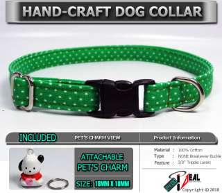 KELLY SMALL DOT ~Teacup/Tiny Dog Collar ~+ SNOOPY CHARM