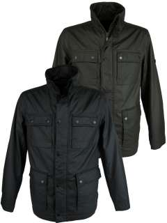 Mens Ben Sherman Military Jacket/ Coat Coated Cotton