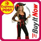 Ladies Swashbuckler Pirate Wench Fancy Dress Halloween Costume Outfit