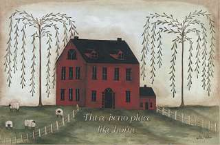 Theres No Place Like Home Saltbox House Framed Art