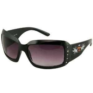 Volunteers Ladies Black Crown Rhinestone Sunglasses