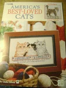 Americas Best Loved Cats cross stitch Linda Gillum