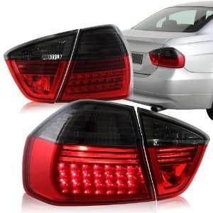 2005   2008 BMW E90 3 Series Sedan LED Smoke Housing & Red