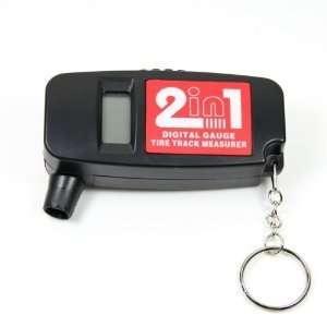 Digital LCD Car Wheel Tire Air Pressure Gauge with Tread Depth Gauge