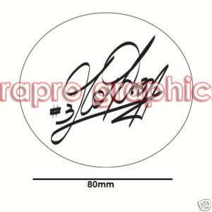 Max Biaggi Signature Decal