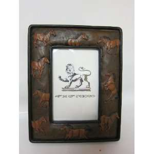 4x6 Picture Frame, Horses, Western Decor Frame: Home