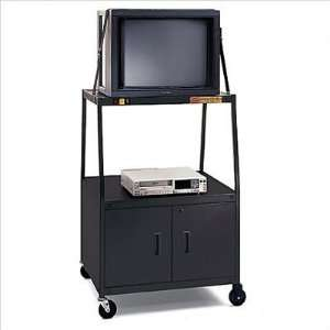 Cart with 2 Outlet Electrical Unit for 27 32 Televisons Electronics