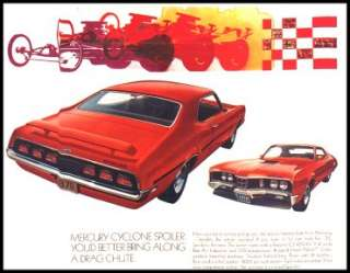 1970 Mercury Brochure  Cyclone, Cougar Marauder MINT