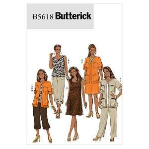 Butterick Patterns B5618 Misses/Womens Jacket, Top, Dress and Pants