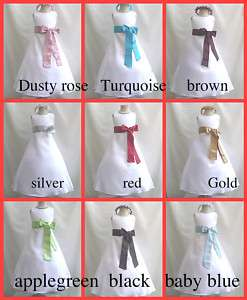 PURPLE WEDDING BRIDAL EASTER FLOWER GIRL DRESS 1 TO 14