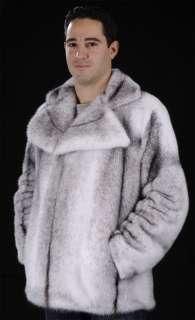 Mans mens black cross SAGA ROYAL mink fur jacket coat
