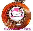 TARINA TARANTINO Hello Kitty Lolita Lucite NECKLACE NEW
