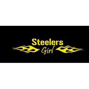 Pittsburgh Steelers Girl Flames Car Window Decal Sticker