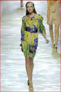 BLUMARINE Runway Floral Print Silk Jersey Dress 44 NWT
