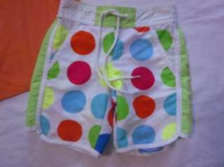 orange Practically Perfect shirt dot board shorts lot set S 6 7
