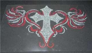Decorative Cross Rhinestone Iron On Transfer Bling