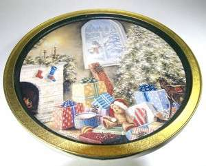 Nicky Boehme NOT A CREATURE WAS STIRRING CHRISTMAS Tray Tin Container