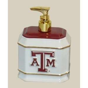 Texas A&M Aggies TAMU NCAA Ceramic Liquid Soap Dispenser