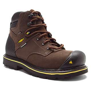 Keen  Tacoma Brown Steel Toe Shoe