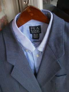 Hugo Boss Blue 2 Btn Wool Mens Suit 40S 40 Short Pants 32 31