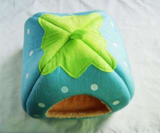 Cute Cashmere Foldable Strawberry Pet Nest Dog Bed Cat Bed 5 Colors