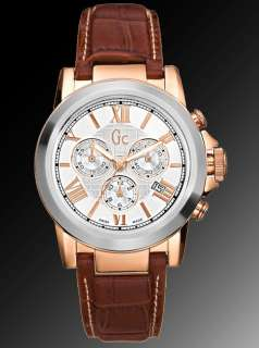 NEW GUESS COLLECTION SWISS GC MENS B2 CLASS ROSE GOLD SILVER WATCH