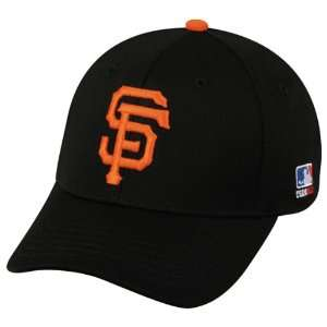 FITTED Sm/Med San Francisco GIANTS Home BLACK Hat Cap