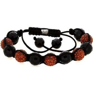 Royal Diamond Amber Color Shamballa Swarovski Crystal Stone Balls