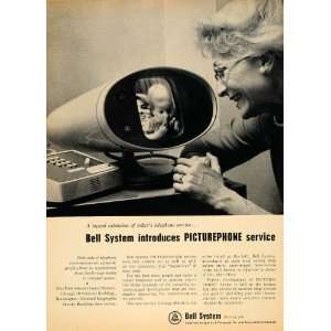 Telephone System Picturephone Apparatus   Original Print Ad Home