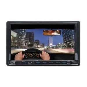 Supersonic SC 733 7  CD DVD Double DIN Car Stereo W/Card Slot