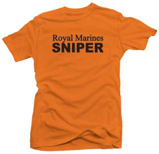 Royal Marines Sniper UK British Military Army T shirt